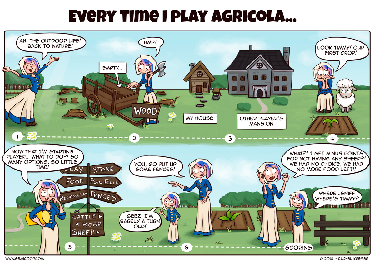agricola life board game comics clever move